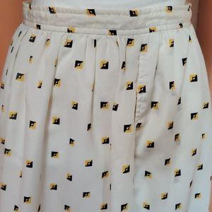 1980s Geometric Midi Skirt Union Label Vintage